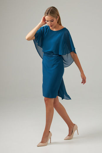 Draped back dress - petrooli